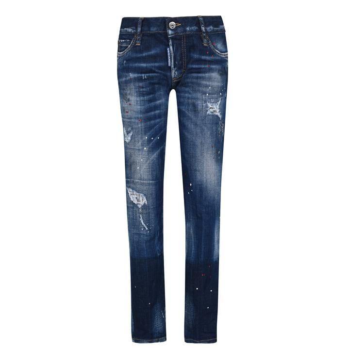 Jennifer Cropped Split Jeans