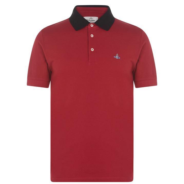 Contrasting Collar Polo Shirt