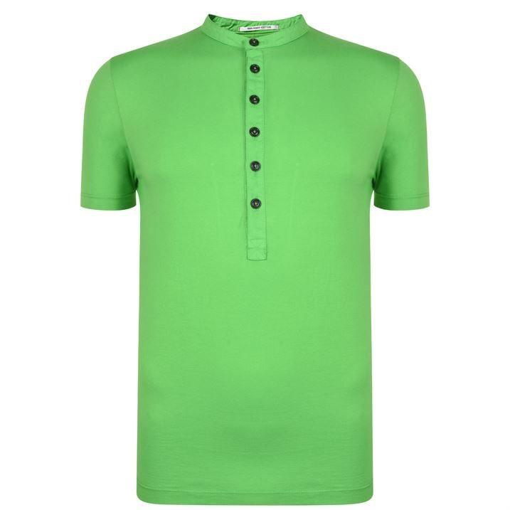 Henley Button T Shirt