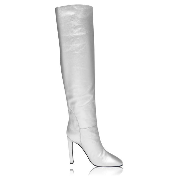 Metallic Knee High Boots