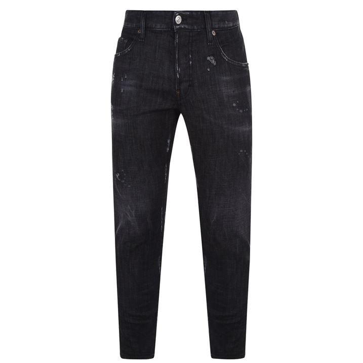Black Washed Skater Jeans