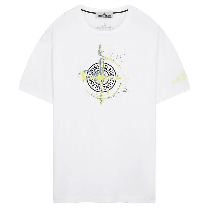 Cotton Jersey Marble One T Shirt