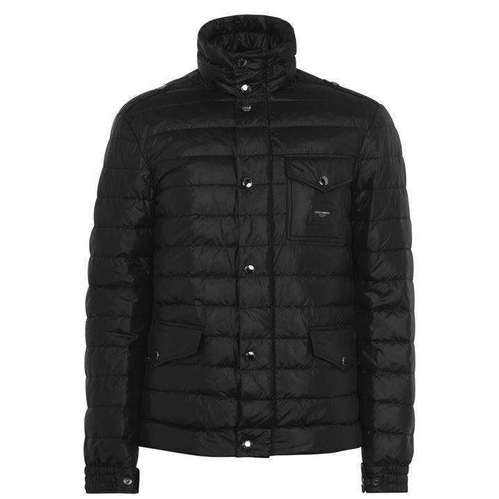Plaque Padded Jacket