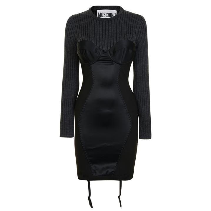 Knit Corset Mini Dress