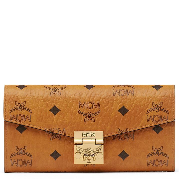 Patricia Two Fold Wallet With Chain In Visetos