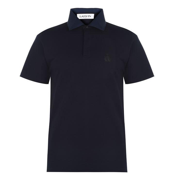 Lanvin Short Sleeve Logo Polo