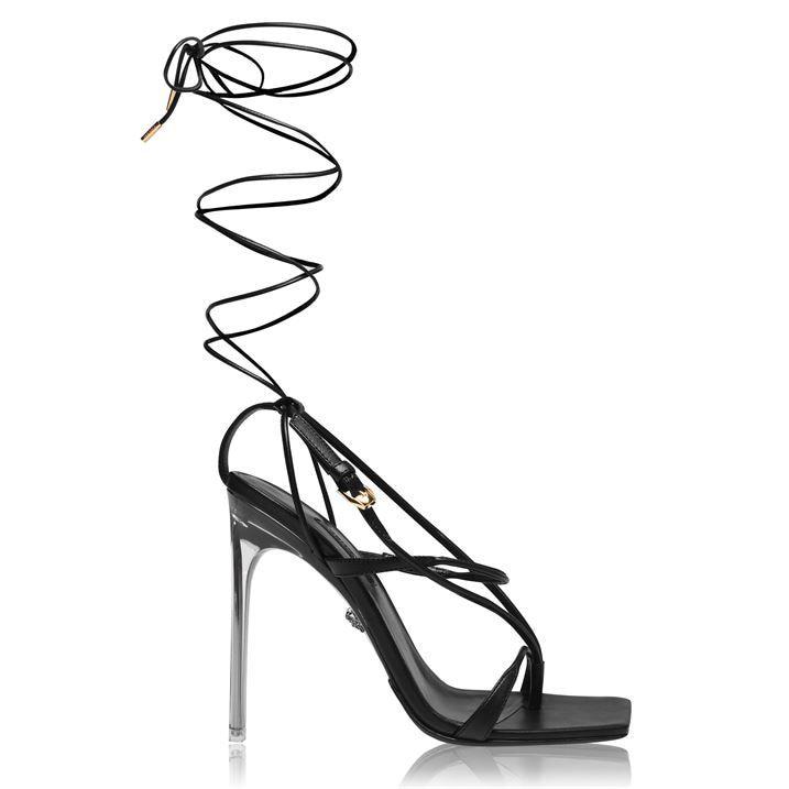 Versace Wrap Tie Heeled Sandals