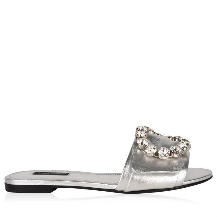 Metallic Crystal Flat Sliders