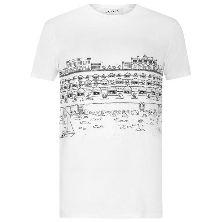 Babar Beach Hut Print T Shirt