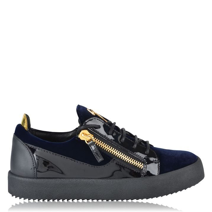 May Velvet Panel Low Top Trainers