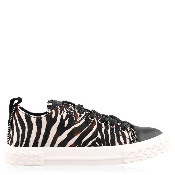 Low Zebra Blabber Trainers