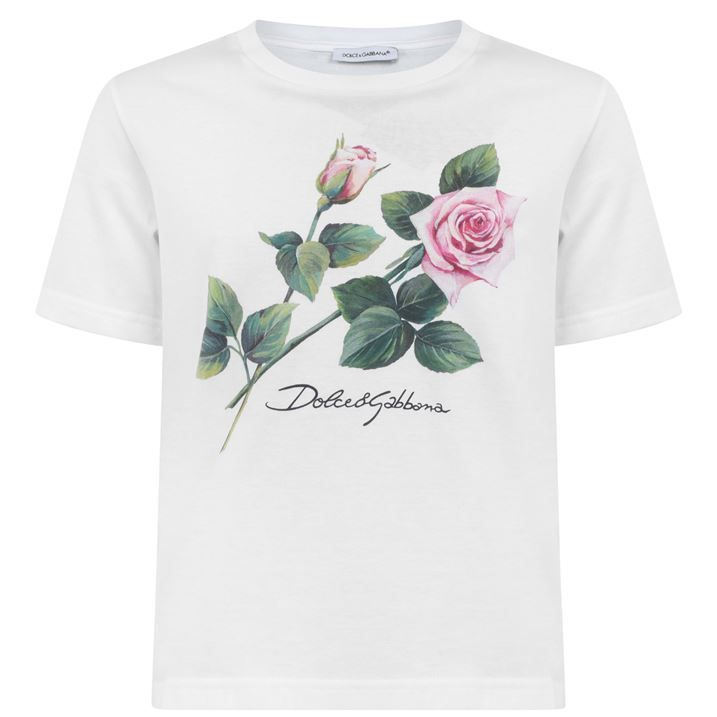 Junior Girls Tropical Rose T Shirt