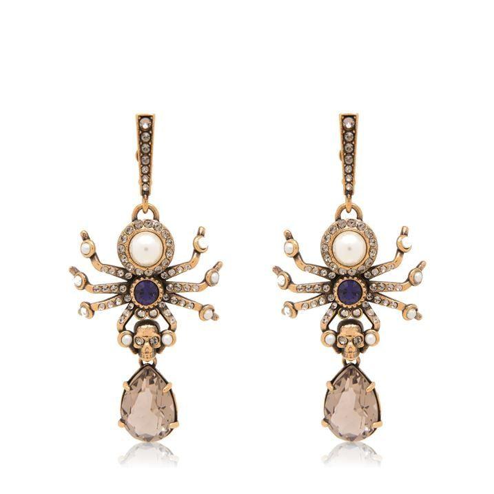 Pearl Skull Earrings