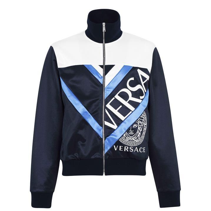 Medusa Embroidered Zip Tracksuit Jacket