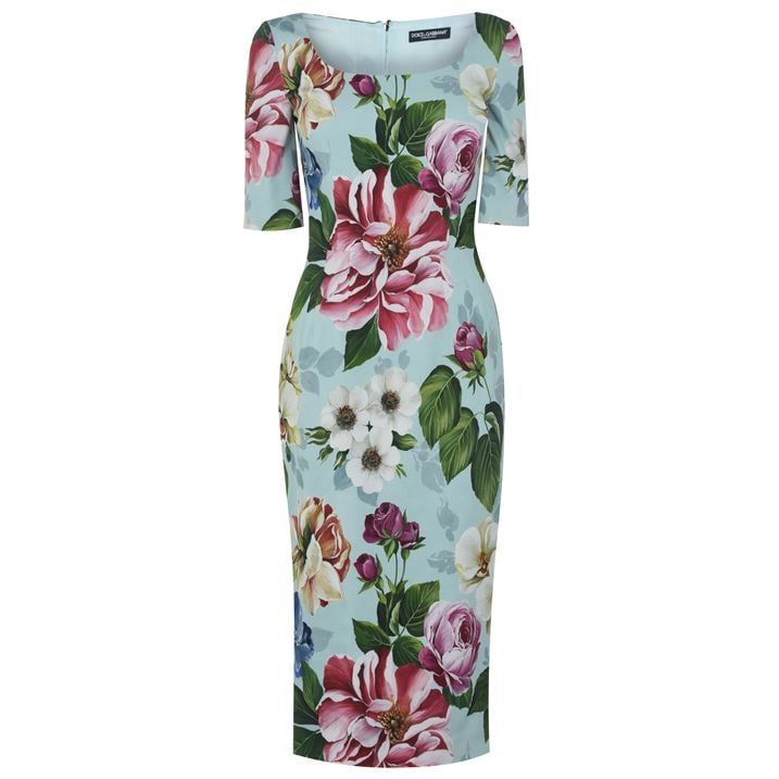 Dolce And Gabbana Floral Midi Dress