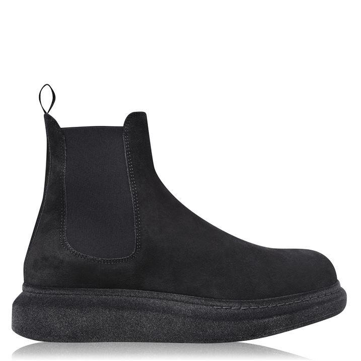 Hybrid Flock Chelsea Boots