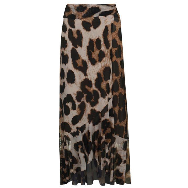 Leopard Mesh Skirt
