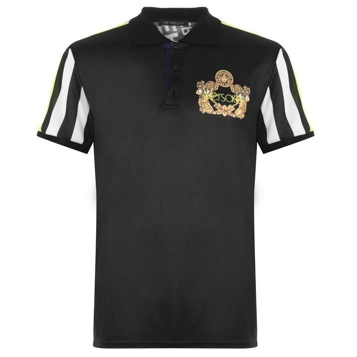 Stripe Print Polo Shirt
