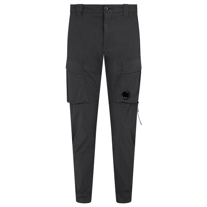 Garment Dyed Stretch Sateen Cargo Pants