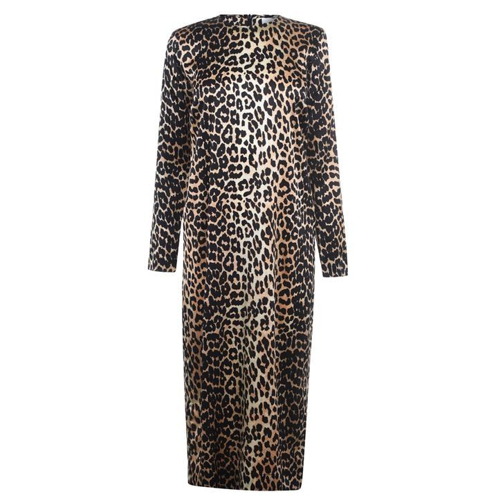 Silk Leopard Print Dress