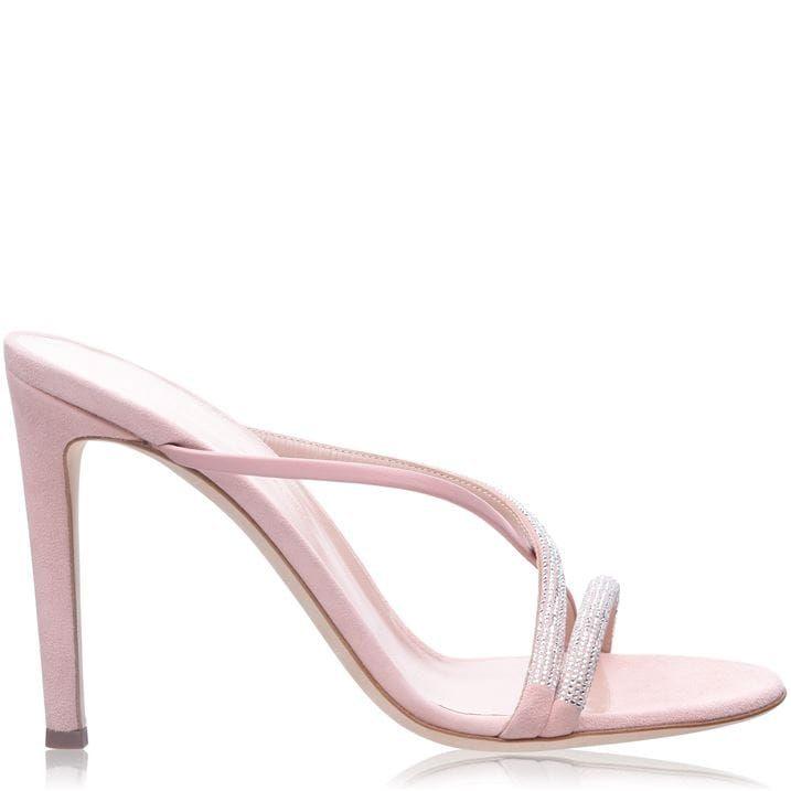 Giuseppe Zanotti Croisette Embellished Mule Sandals