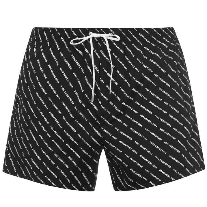 All Over Logo Print Swim Shorts