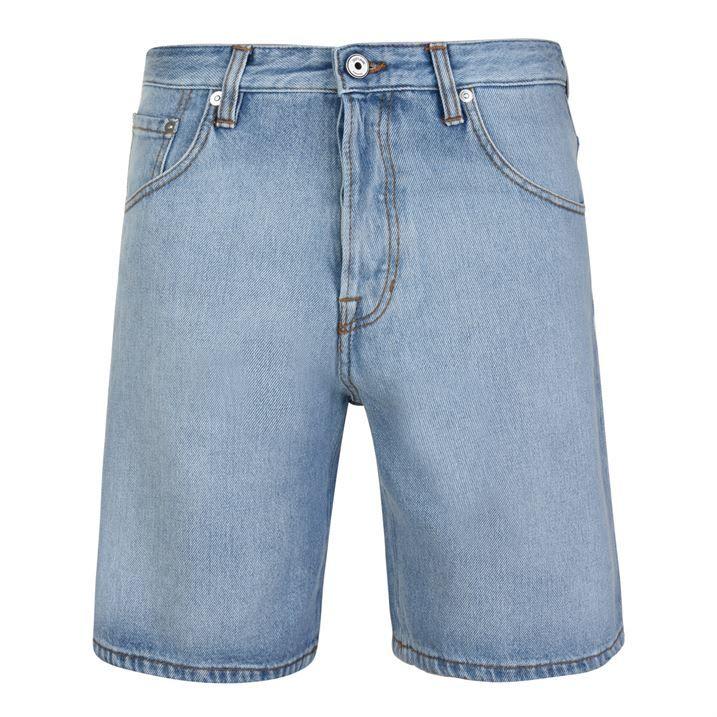 Tape Denim Shorts
