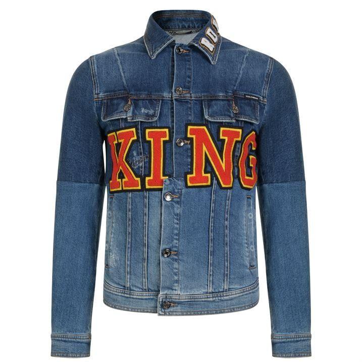 King Logo Denim Jacket