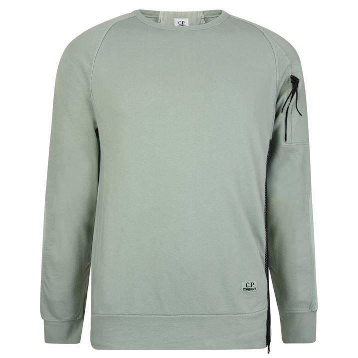 Oversized Dyed Arm Zip Sweatshirt