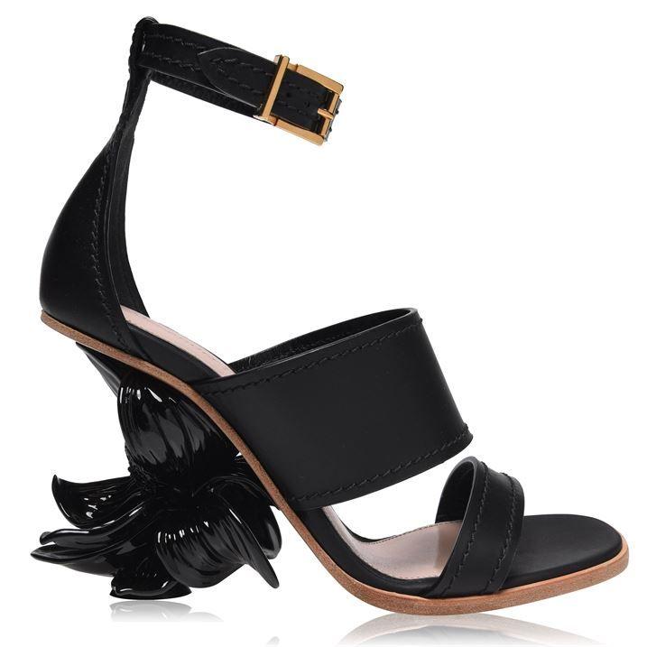 Flower Sandal 90 Mm Heels