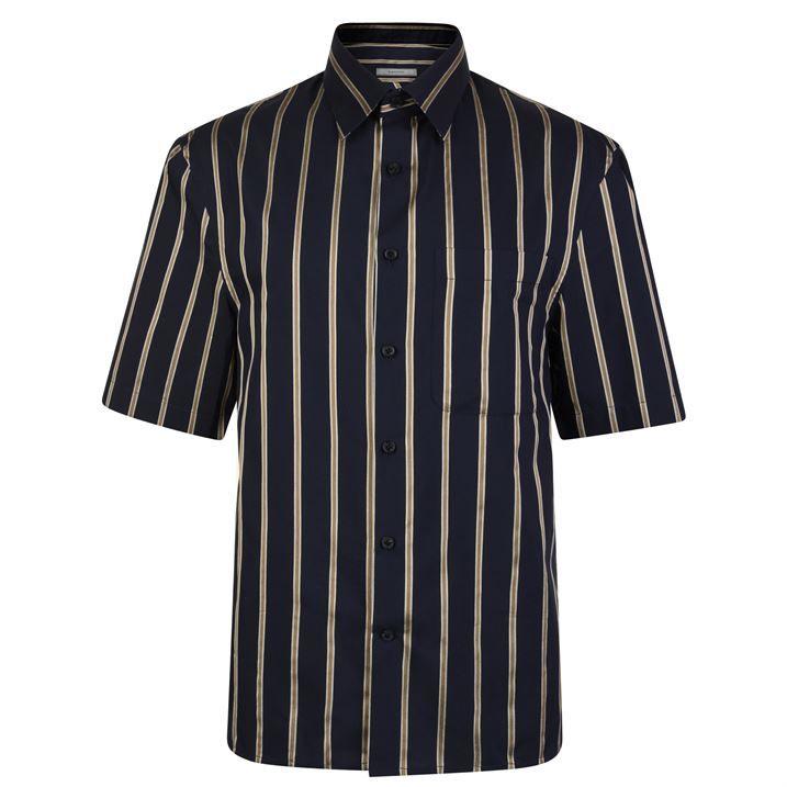 Oversized Short Sleeved Stripe Shirt