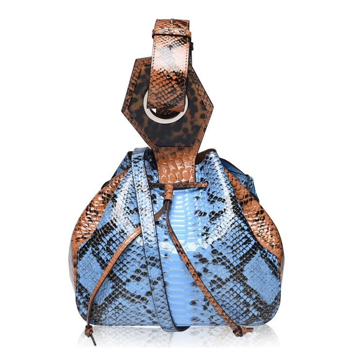Leather Mixed Snakeskin Bag
