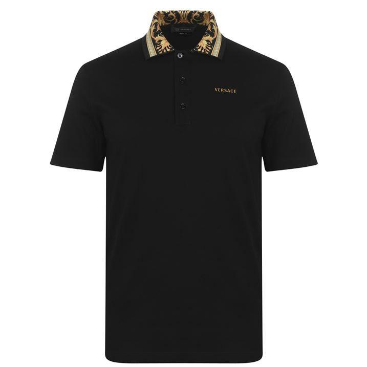 Baroque Collar Polo Shirt
