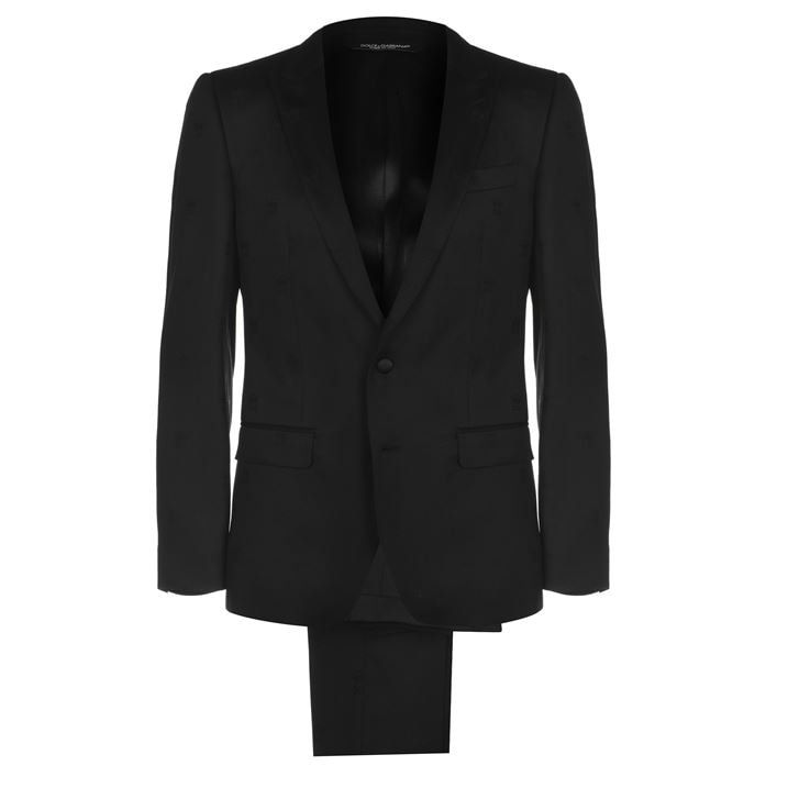 Logo Jacquard Suit