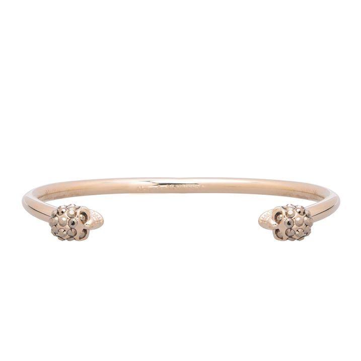 Thin Twin Skull Crystal Bracelet