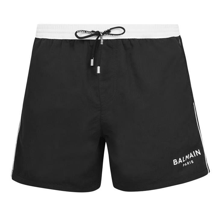 Balmain U Logo Swim Shorts