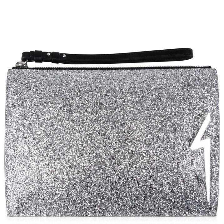 G Glitter Clutch Bag