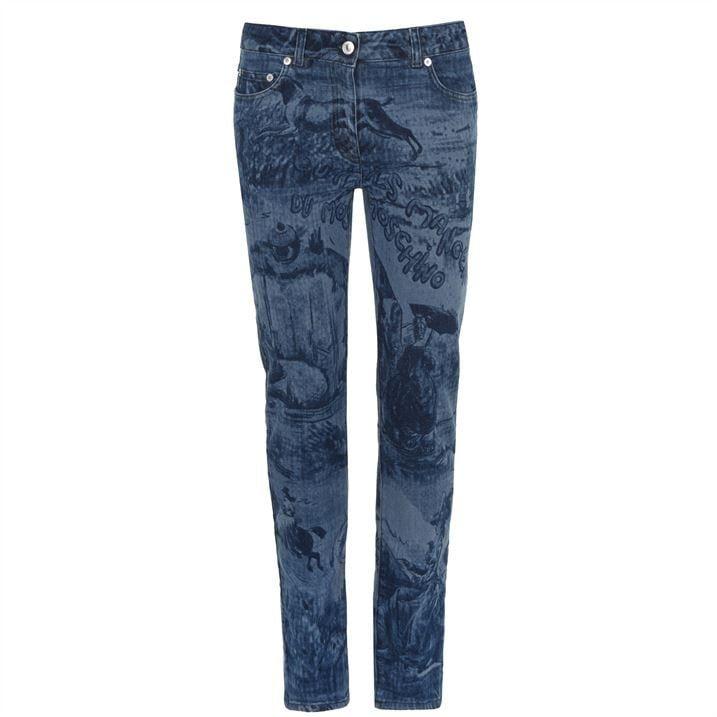 Print Denim Jeans
