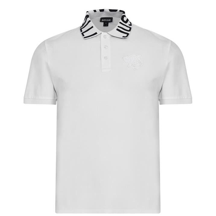 Just Cavalli Collar Logo Polo Shirt