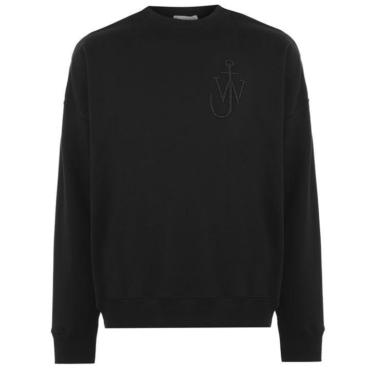 Oversized Shoulder Placket Sweatshirt