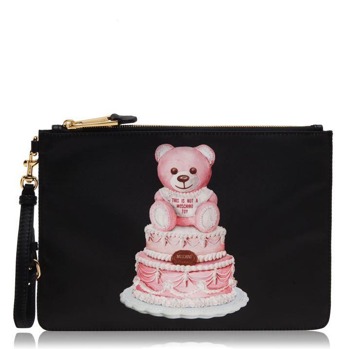 Moschino WomenS Cake Bear Pouch
