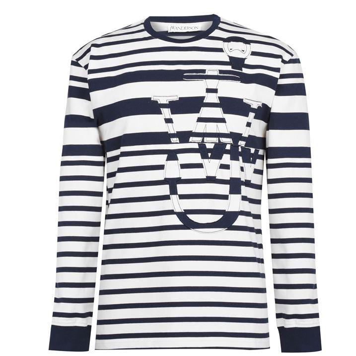 Stripe Anchor Long Sleeve T Shirt