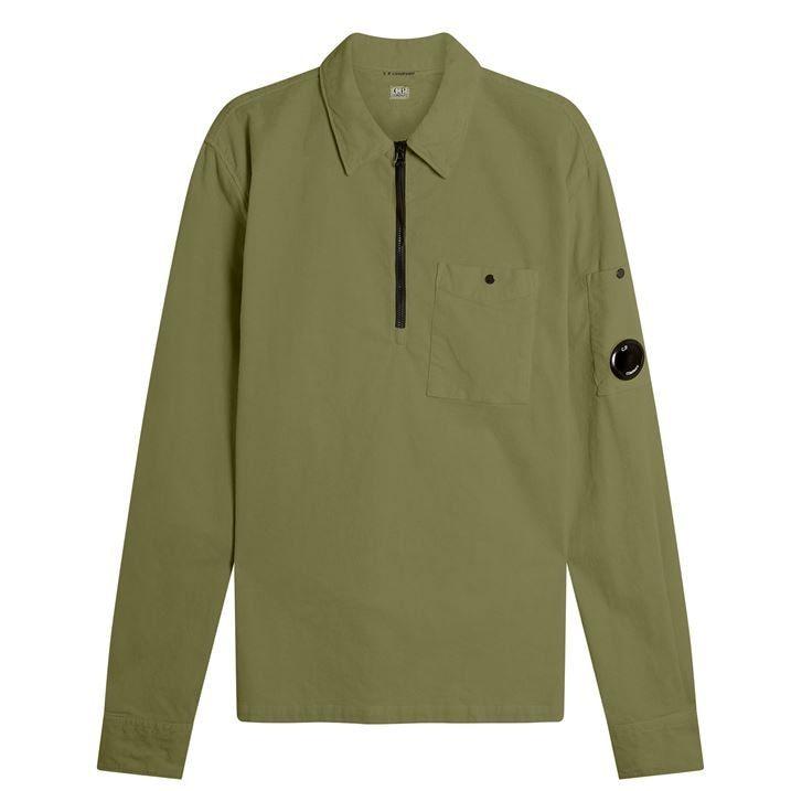 quarter  Zip Cord Pocket Shirt