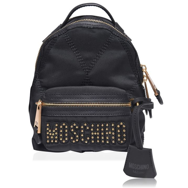 Nylon Quilted Letter Backpack