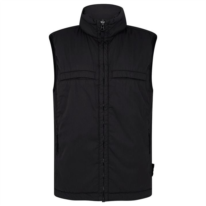 Stretch Wool Nylon Ghost Piece Reversible Gilet
