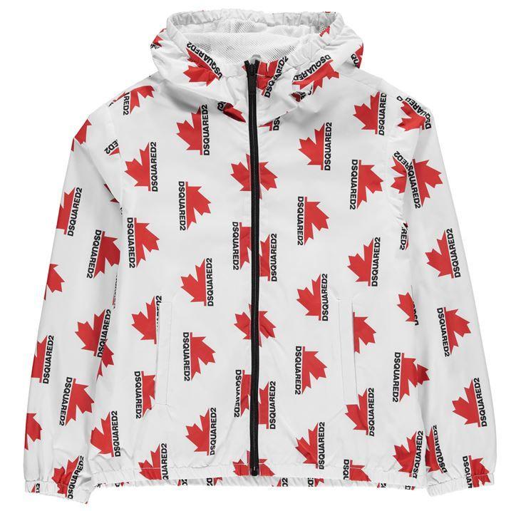 Junior Boys Aop Leaf Jacket