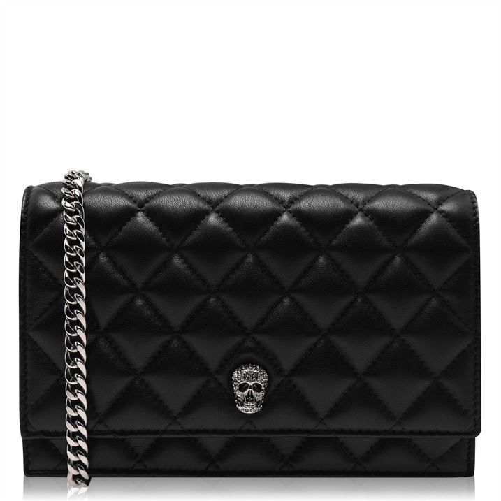 Small Quilted Pave Skull Bag