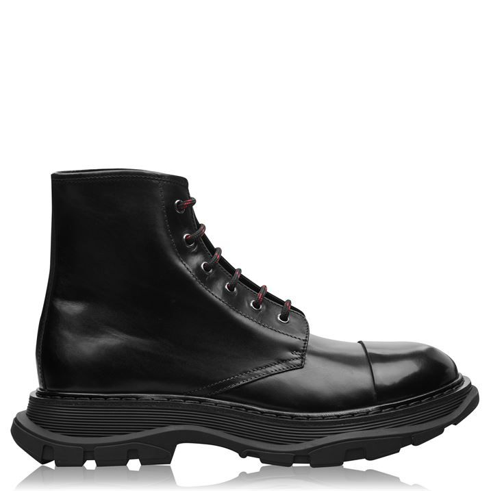 Chunky Sole Leather Boots
