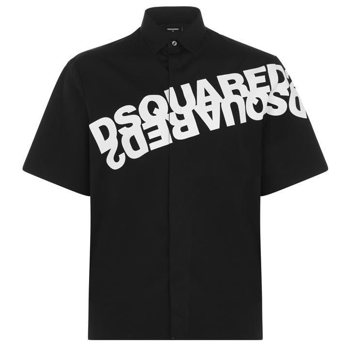 Diagonal Logo Short Sleeve Shirt