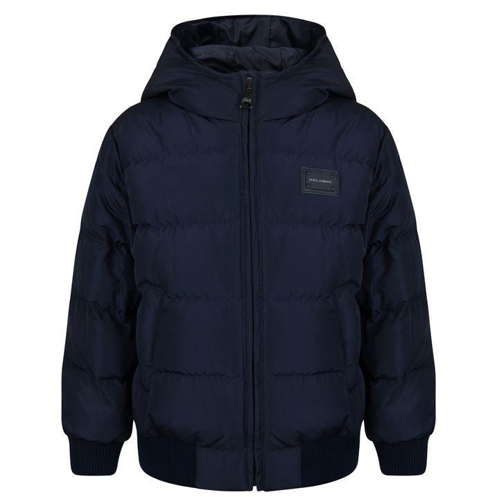 Children Boys Nylon Plaque Puffer Jacket